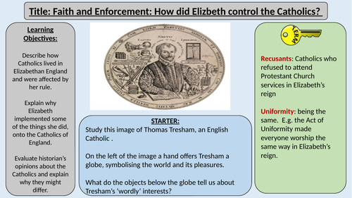 2. Elizabeth's Laws and the Rise of Catholics OCR GCE J411 9-1 The Elizabethans 1580-1603 Section 2