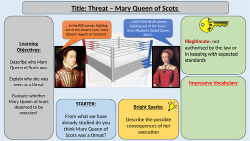 5. Mary Queen of Scots - OCR GCE J411 9-1 The Elizabethans 1580-1603 Section 2