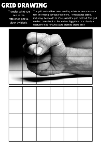 20  Art and Design Grid  drawing worksheets