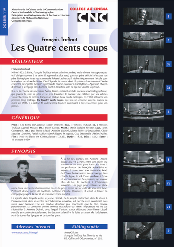 BUNDLE OF STUDY GUIDES ON  Les 400 Coups