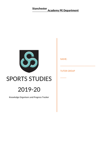 OCR Cambridge National Sports Studies Student workbook and knowledge organisers