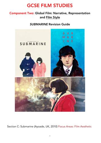 WJEC Eduqas GCSE FILM STUDIES SUBMARINE (AYOADE, 2010) STUDY BOOK