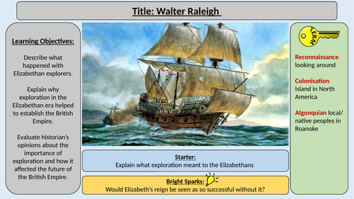 5. Walter Raliegh -OCR GCE J411 9-1 The Elizabethans 1580-1603 Section 5
