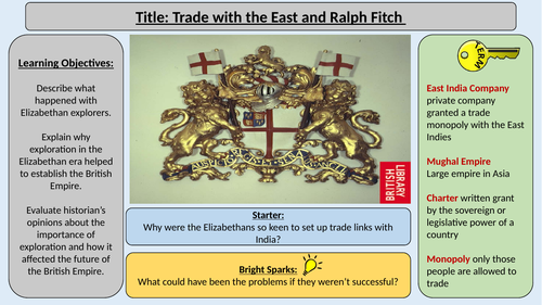 6. Trade with the East -OCR GCE J411 9-1 The Elizabethans 1580-1603 Section 5