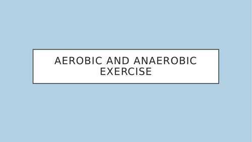 GCSE PE Types of Exercise