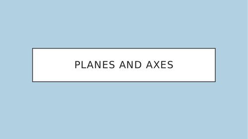 GCSE PE Planes and Axes