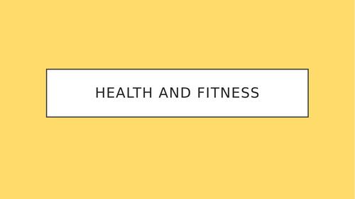 GCSE PE Health and Fitness