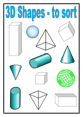 3D Shapes - to sort