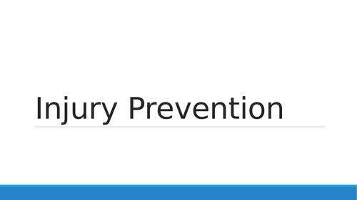 GCSE PE Injury Prevention