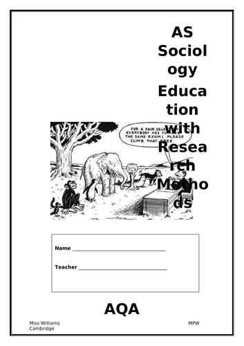 Sociology of Education Booklet one
