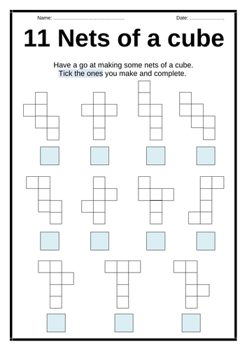 Nets of a CUBE - Activity