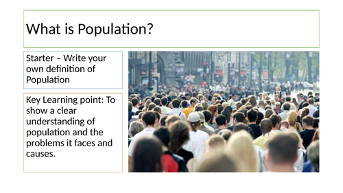 What is population? full lesson and resources