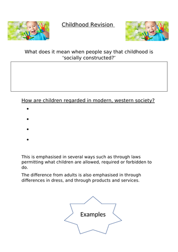 AQA A-Level Sociology - Childhood Revision (Two Lessons)