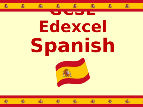 GCSE Edexcel Spanish Examination corner