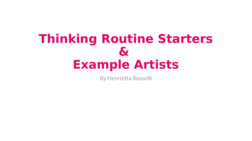 Art Thinking Rountine Starters