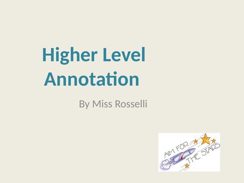 Higher Level Art Annotation Support