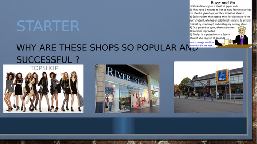 BTEC First Unit 6 Introducing Retail Business
