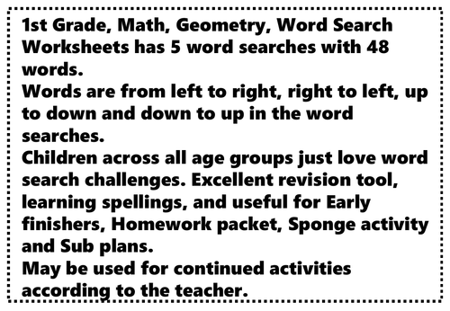 Preschool shape, space and measure resources
