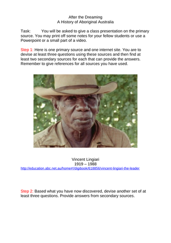 Aboriginal History - the massacres & biographies & Powerpoint lesson unit