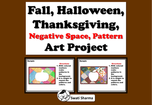 Fall, Halloween, Thanksgiving, Negative Space, Pattern Art Project