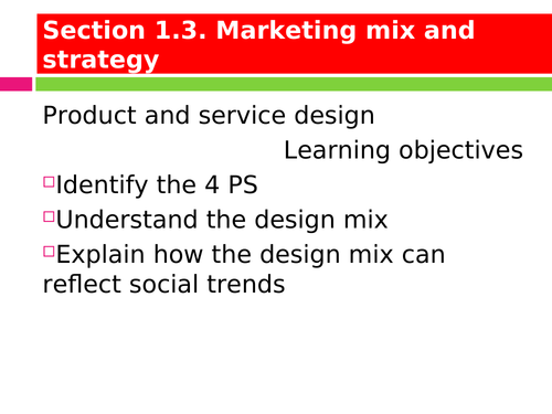 Marketing Mix and Strategy Powerpoint (NEW SPEC)