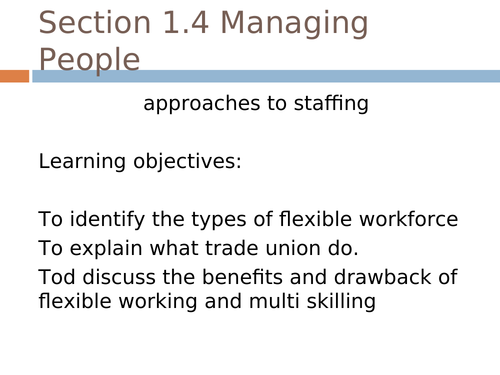 Approaches to Staffing Powerpoint (NEW SPEC)