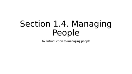 Managing People Powerpoint (NEW SPEC)