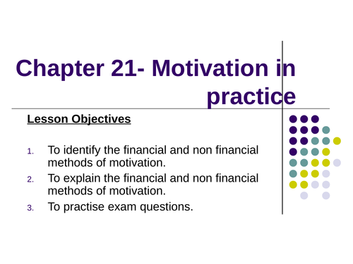 Motivation in Practice/Theory Powerpoint (NEW SPEC)