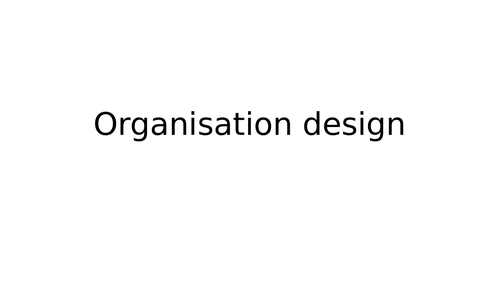 Organisation Structure Powerpoint (NEW SPEC)