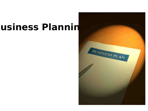 Business Planning Powerpoint (NEW SPEC)