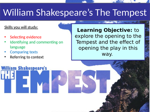 Introduction to The Tempest - Shakespeare Play - 7 Lesson Mini Scheme