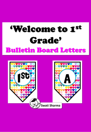 Welcome to 1st Grade/ Welcome to First Grade Bulletin Board Letters