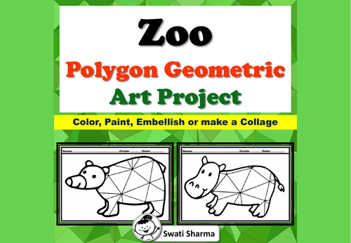 Zoo Animals, Polygon, Geometric Art Project