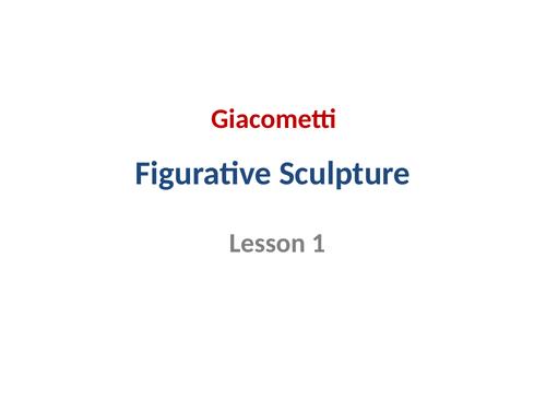 KS3 art - Figurative Sculpture Lesson 1