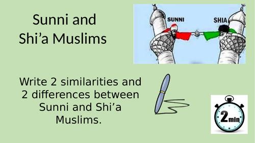Sunni and Shia key beliefs