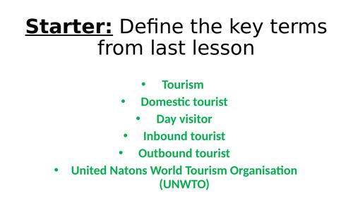BTEC Travel and Tourism L3 Unit 1(A)