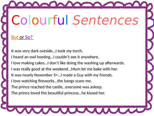 Colourful Sentences - Grammar Starters for KS2