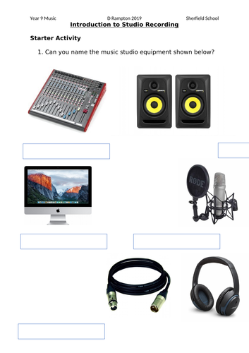KS3 - Audio Sequencing & Editing SoW