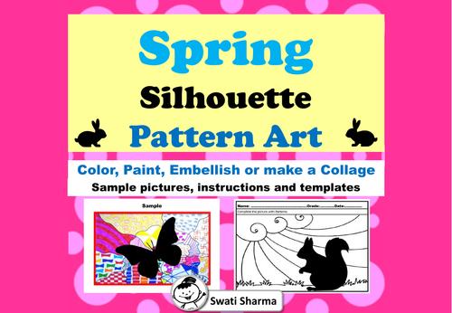 Spring Silhouette Art Project, Pattern Art, Pop Art