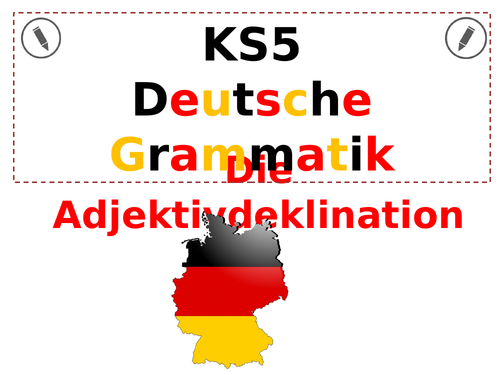 German KS5 Adjective Endings by dmacca | Teaching Resources