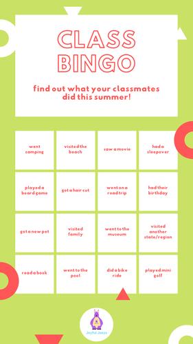 Get To Know You Bingo - Freebie, Zero Prep, Upper Primary/Lower High School