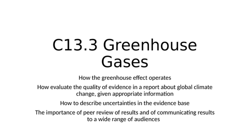 C13 The Earth's Atmosphere SOW