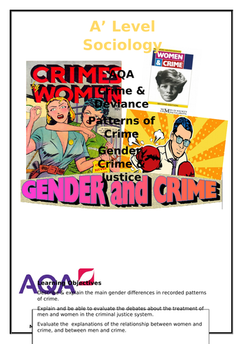 A Level Sociology Gender and Crime workbook