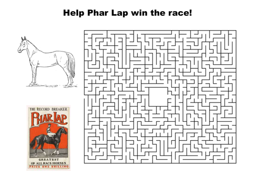 Help Phar Lap win the race maze puzzle