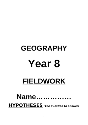 school based geography fieldwork project KS3 4 GCS human physical OCR AQA statstics skills maps