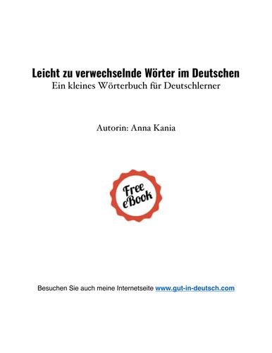 Leicht zu verwechselnde Wörter im Deutschen