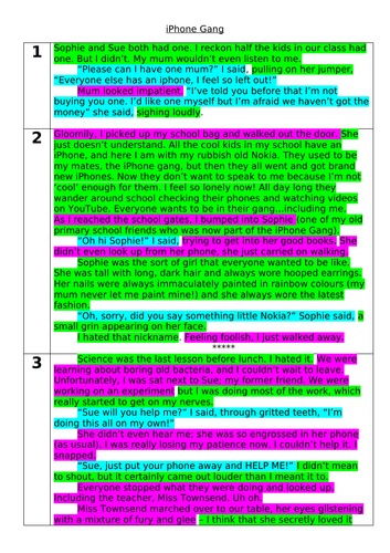 WAGOLL Dilemma story and Planning Sheets (Differentiated)