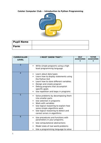 Python Student Booklet - KS3