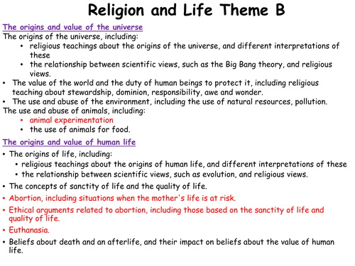RELIGIOUS STUDIES(RS) RELIGION AND LIFE REVISION PACK - AQA 9-1 GCSE