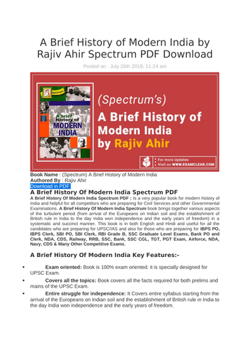 Geography of India by Majid Husain Sir, PDF Download by